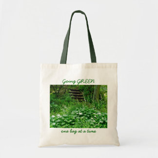 Dk Green Hosta Going GREEN one bag at a time Tote