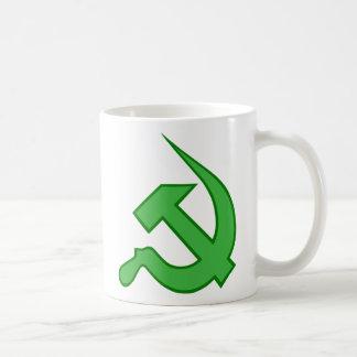 Dk & Light Green Thick Neo-Hammer & Sickle Mug