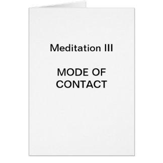 DK Meditation Series: Meditation III - CARD