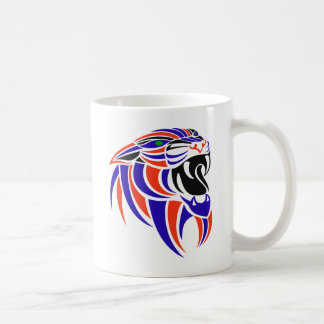Dk Purple and Orange Tiger Head Coffee Mug