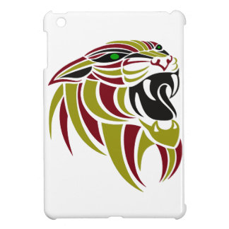 Dk Red and Gold Tiger Head iPad Mini Case