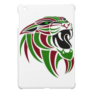 Dk Red and Green Tiger Head iPad Mini Covers