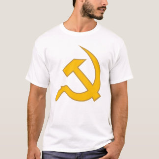 Dk Yellow & Tan Classic Hammer & Sickle T-Shirt