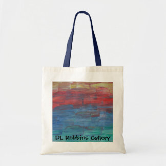 DL Robbins Gallery Tote Sunset over Lake Bags