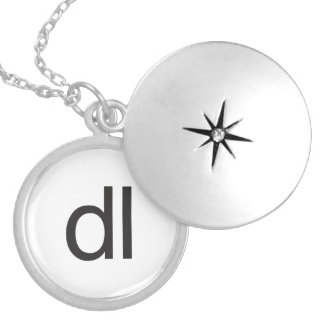 dl silver plated necklace