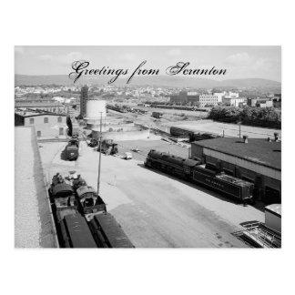 DL & W RR Scranton Pa. Postcard