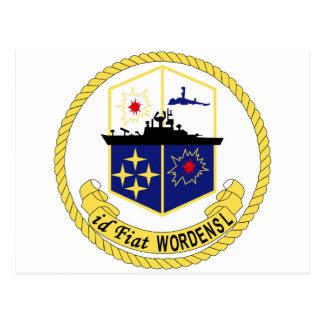 DLG-18 USS WORDEN Navy Guided Missile Destroyer Le Postcard