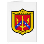 DLG-32 USS WILLIAM H STANDLEY Guided Missile Leadi Cards