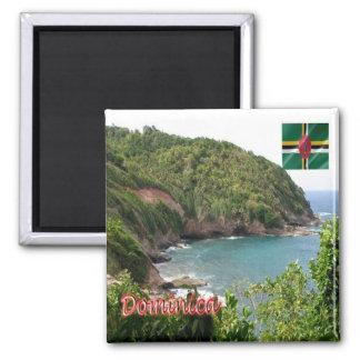 DM - Dominica - panorama Imán Cuadrado