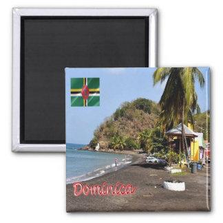 DM - Dominica - playa de Mero Imán Cuadrado