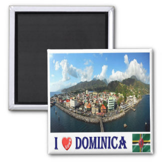 DM - Dominica - Roseau de par en par - amor de I Imán Cuadrado