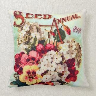 DM Ferry Flower Seeds Vintage Advertisement Pillow