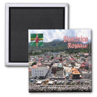 DM - Imágenes de Dominica - de Roseau - de Cuise Imán Cuadrado