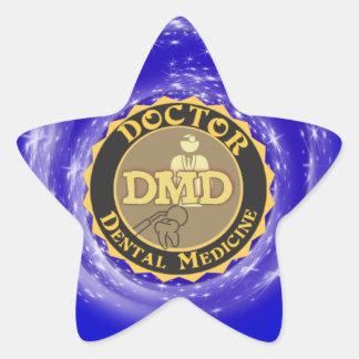 DMD DOCTOR OF DENTAL MEDICINE LOGO STAR STICKER