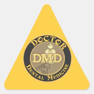 DMD DOCTOR OF DENTAL MEDICINE LOGO TRIANGLE STICKER