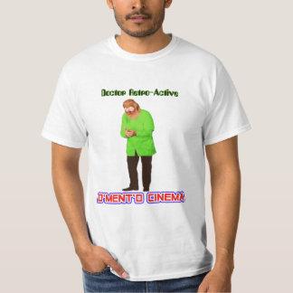 """D'Ment'D Cinema """"Dr. Retro-Active"""" Men's White T-S Tee Shirt"""