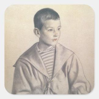 Dmitri Dmitrievich Shostakovich  as a Child Square Sticker