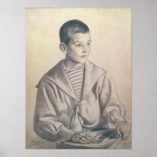 Dmitri Dmitrievich Shostakovich como niño Póster