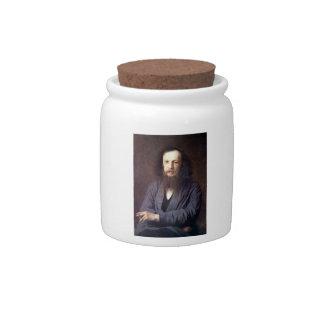 Dmitri Ivanovich Mendeleev by Ivan Kramskoy Candy Jars