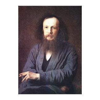 Dmitri Ivanovich Mendeleev by Ivan Kramskoy Gallery Wrapped Canvas