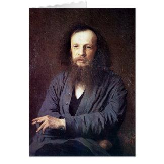 Dmitri Ivanovich Mendeleev by Ivan Kramskoy Card