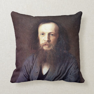Dmitri Ivanovich Mendeleev by Ivan Kramskoy Pillows