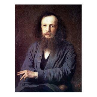 Dmitri Ivanovich Mendeleev by Ivan Kramskoy Postcard