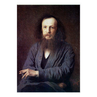 Dmitri Ivanovich Mendeleev by Ivan Kramskoy Poster