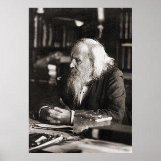 Dmitri Ivanovich Mendeleev Portrait Poster