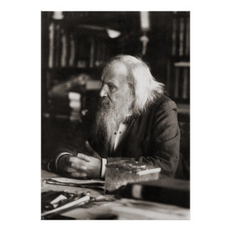 Dmitri Ivanovich Mendeleev Portrait Posters