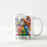 Dmitriev Family Crest Classic White Coffee Mug