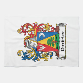 Dmitriev Family Crest Hand Towels