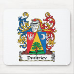 Dmitriev Family Crest Mouse Pad