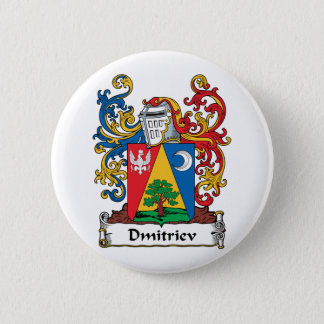 Dmitriev Family Crest Pinback Button