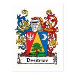 Dmitriev Family Crest Postcard
