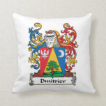 Dmitriev Family Crest Throw Pillow