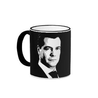 Dmitry Medvedev Face Ringer Coffee Mug