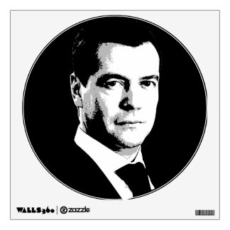 Dmitry Medvedev Face Wall Stickers