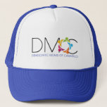 """DMOC Logo Blue Hat<br><div class=""""desc"""">When you have Mom hair and you don&#39;t care,  you need something to handle that situation! Walla! Trucker hat to the rescue!</div>"""