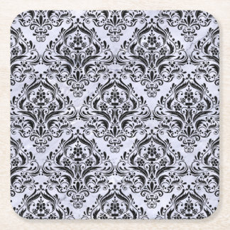 DMS1 BK-WH MARBLE (R) SQUARE PAPER COASTER