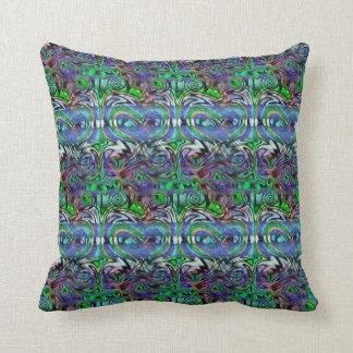 DMT~Yana Love Froggys Psychedelic Pattern Cushion