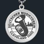 "DMV Necklace Black on White<br><div class=""desc"">DMV Necklace with black on white logo. View item for size and plating options.</div>"
