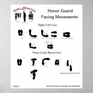 DMVA1 Honor Guard Facing Movements Poster