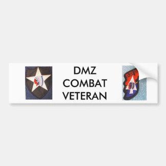 DMZ COMBAT VETERAN CAR BUMPER STICKER