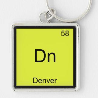 Dn - Denver City Chemistry Element Symbol T-Shirt Key Chain