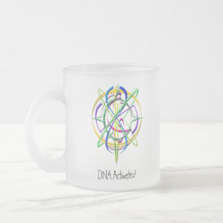 DNA Activated Atom Frosted Mug