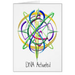 DNA Activated Atom Greeting Card