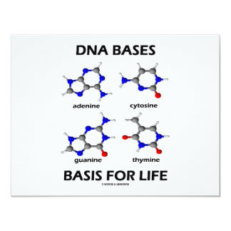 DNA Bases Basis For Life (Chemistry Molecules) Card