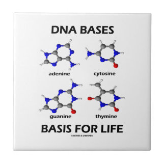 DNA Bases Basis For Life (Molecular Structure) Ceramic Tile
