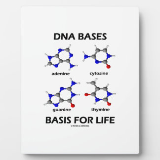 DNA Bases Basis For Life (Molecular Structure) Plaque
